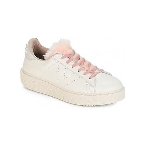 Victoria DEPORTIVO PIEL PERLAS women's Shoes (Trainers) in Beige
