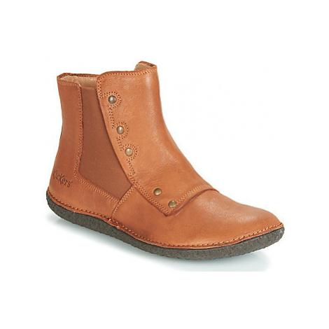 Kickers HAPPLI women's Mid Boots in Brown