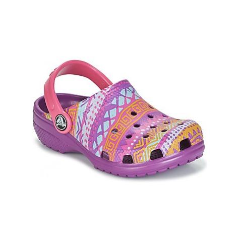 Crocs CLASSIC GRAPHIC CLOG K girls's Children's Clogs (Shoes) in Purple