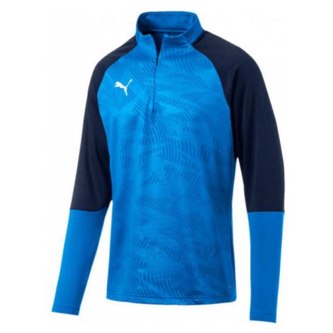 Puma CUP TRAINING 1 4 ZIP T blue - Men's sweatshirt