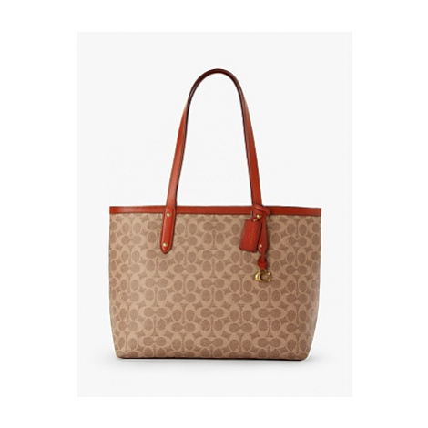 Coach Signature Central Zip Top Tote Bag