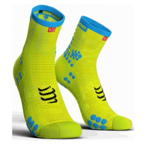 Compressport RACE V3.0 RUN HI yellow - Running socks