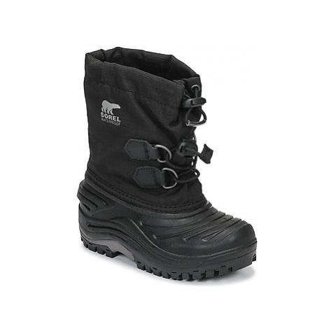 Sorel CHILDRENS SUPER TROOPER girls's Children's Snow boots in Black