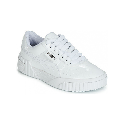 Puma CALI PATENT JUNIOR girls's Children's Shoes (Trainers) in White