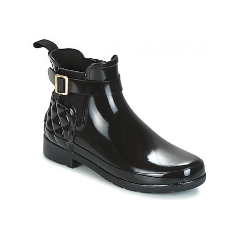Hunter REFINED GLOSS QUILT CHELSEA women's Mid Boots in Black