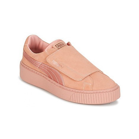 Puma PLATFORMSTRAP SATIN EP W'S women's Shoes (Trainers) in Pink