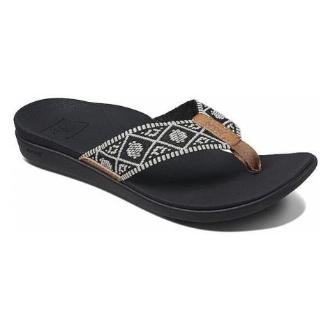 flip flops Reef Ortho-Bounce Woven - Black/White - women´s