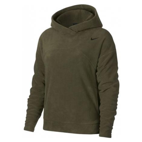 Nike NK THRMA HOODIE POLAR dark green - Women's sports sweatshirt