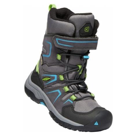 Keen LEVO WINTER WP grey - Kids' winter shoes