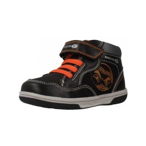Geox MEAF B FLICK BOY boys's Children's Shoes (High-top Trainers) in Black