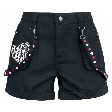 Alice in Wonderland Curiouser And Curiouser Shorts black