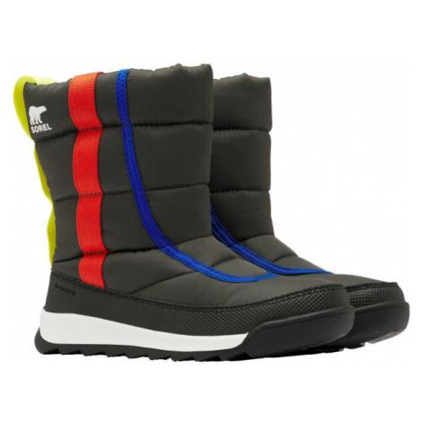 Sorel YOUTH WHITNEY II PUFFY M black - Kids' winter footwear