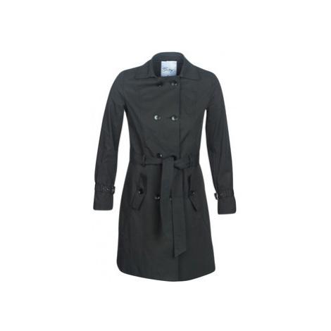 Betty London JIVELU women's Trench Coat in Black