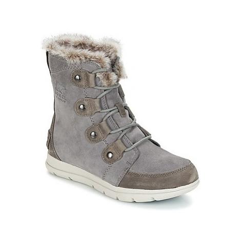 Grey women's snow boots