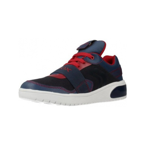 Geox J XLED BOY boys's Children's Shoes (Trainers) in Blue