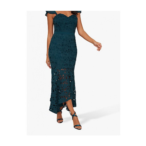 Chi Chi London Lupita Crochet Dress, Teal
