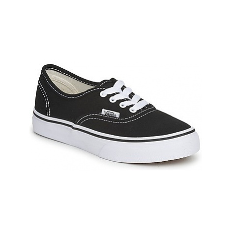 Vans AUTHENTIC girls's Children's Shoes (Trainers) in Black