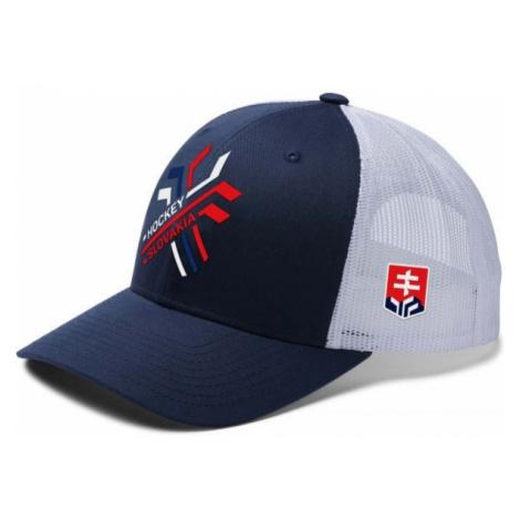 Střída NEW MESH CROSSED HOCKEY STICKS SVK white - Baseball cap