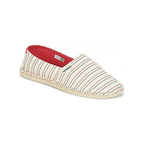 Havaianas ORIGINE PRINT CLASSICA III women's Espadrilles / Casual Shoes in White