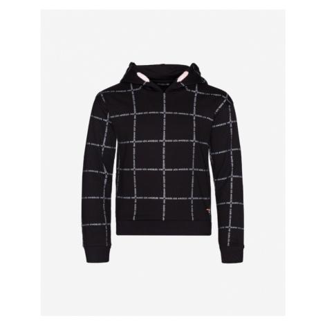 Guess All Over Logo Kids Sweatshirt Black
