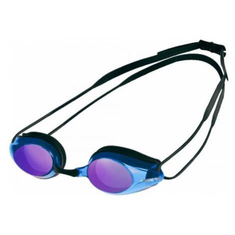 Arena TRACKS MIRROR SWIM GOGG blue - Swimming goggles