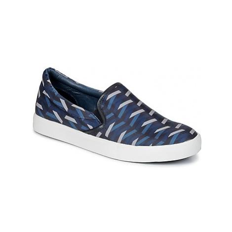Blue women's slip-on shoes