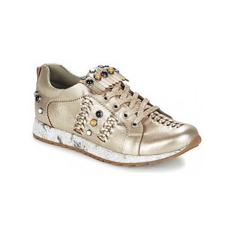 Mam'Zelle HORUS women's Shoes (Trainers) in Gold
