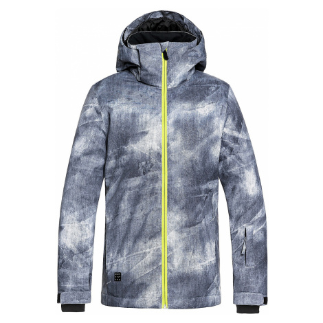 jacket Quiksilver Mission Printed - KPG2/Gray/Simple Texture - boy´s