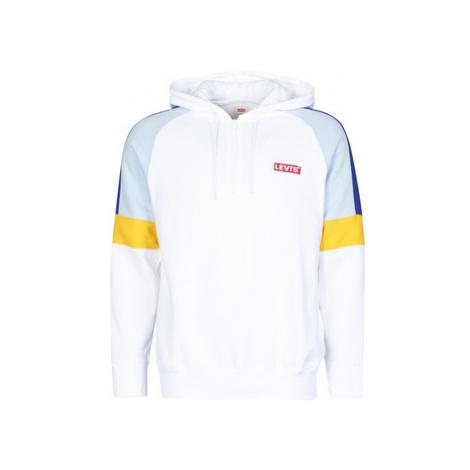 Levis RELAXED PIECED 1/4 ZIP BLOCKED STRIPE SL men's Sweatshirt in White Levi´s