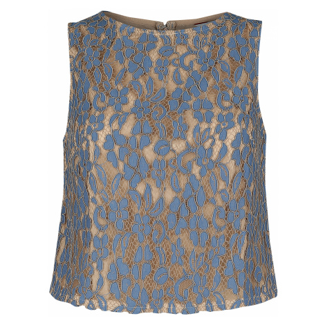 Banned Retro - Lady Lace Top - Girls Top - blue