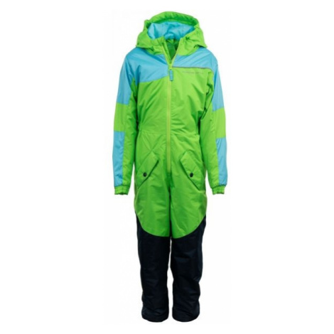 ALPINE PRO BASTO green - Children's winter overall