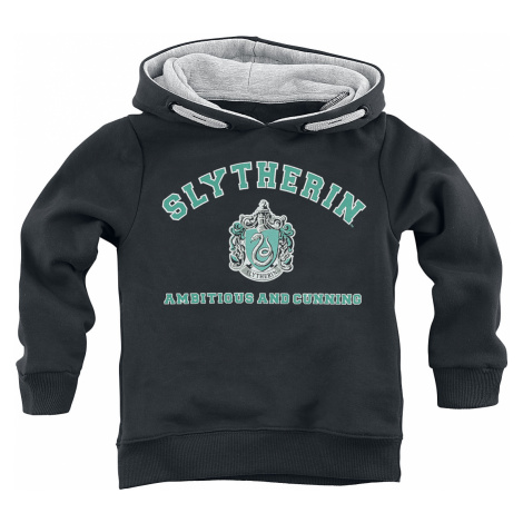 Harry Potter - Slytherin - Ambitious And Cunning - Kids Hooded Sweater - black