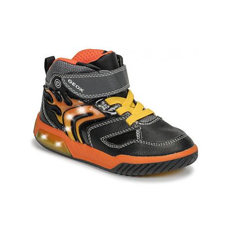 Geox J INEK BOY boys's Children's Shoes (High-top Trainers) in Black