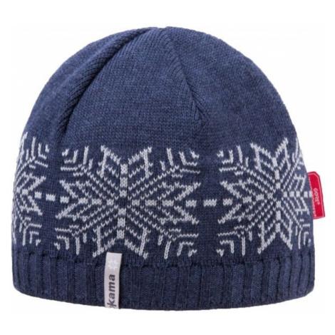 Kama MERINO HAT+WINDSTOPPER dark blue - Knitted hat