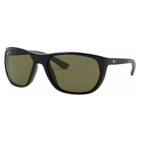 Ray-Ban Rb4307 Man Sunglasses Lenses: Green Polarized, Frame: Black - RB4307 601/9A 61-18