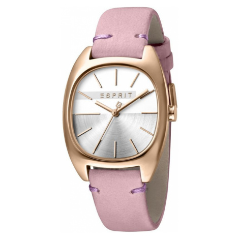 Esprit Infinity Women's Watch featuring a Pink Leather Strap and Silver Dial