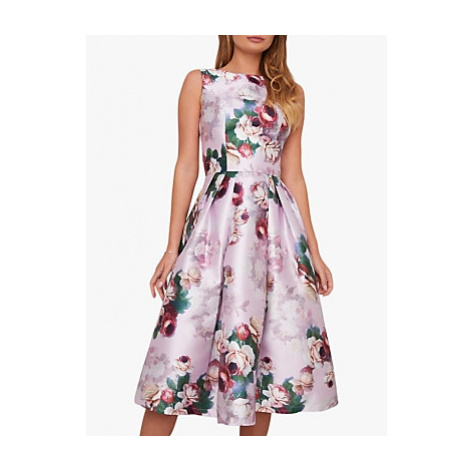 Chi Chi London Ariyah Floral Dress, Pink