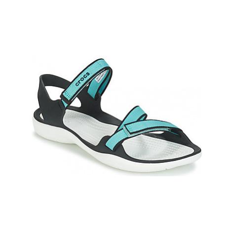 Crocs SWIFTWATER WEBBING SANDAL W women's Sandals in Blue