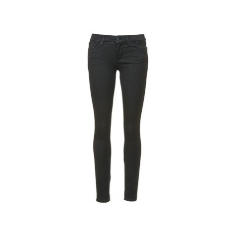 7 for all Mankind THE SKINNY MINIMAL SUPER SATEEN women's Skinny Jeans in Black