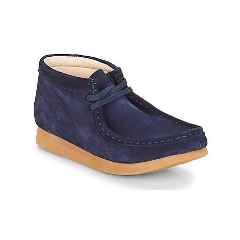 Clarks Wallabee Bt girls's Children's Mid Boots in Blue