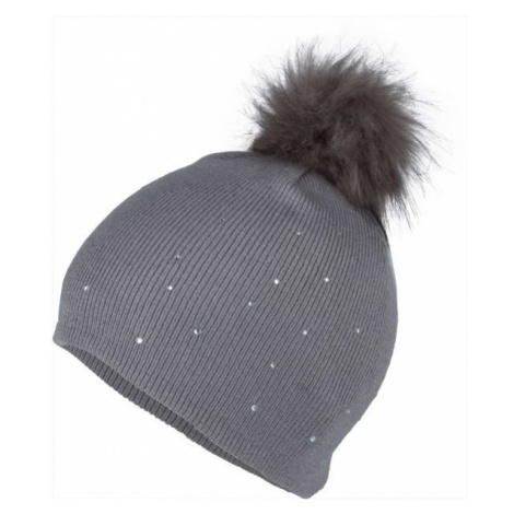 Lewro ROSMERY gray - Girls' knitted hat