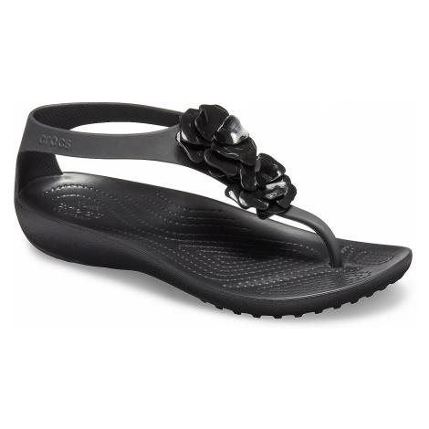 shoes Crocs Serena Embellish Flip - Black/Black - women´s
