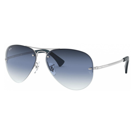 Ray-Ban Rb3449 Unisex Sunglasses Lenses: Blue, Frame: Silver - RB3449 91290S 59-14