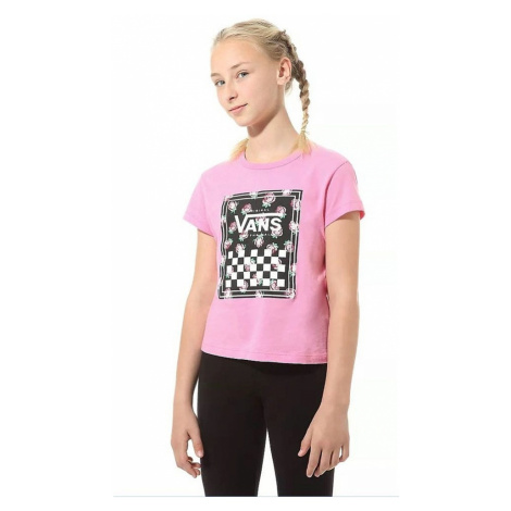 T-Shirt Vans Boxed Rose - Fuchsia Pink - girl´s