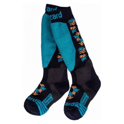 Blizzard ALLROUND WOOL SKI SOCKS JR blue - Children's ski socks