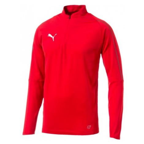 Puma FINAL TRAINING 1/4 ZIP TOP red - Men's sports T-shirt