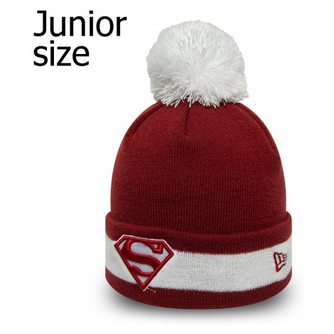 cap New Era Character Stripe Knit Superman Youth - Hot Red/White - unisex junior