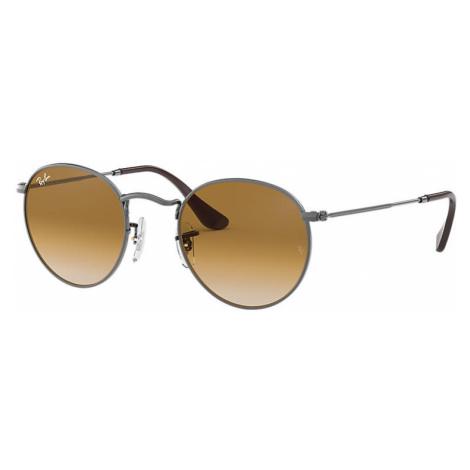 Ray-Ban Round flat lenses Unisex Sunglasses Lenses: Brown, Frame: Gunmetal - RB3447N 004/51 53-2