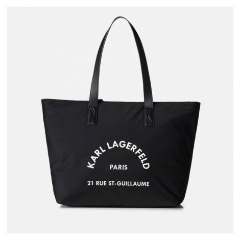 Karl Lagerfeld Women's Rue ST Guillaume Nylon Tote Bag - Black
