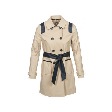 Naf Naf BARTABA women's Trench Coat in Beige